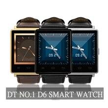 NO. 1 D6 Uhr 1G + 8G 3G Smart Uhren Unterstützung 3G GPS WIFI mtk6580 quad core smartwatches für android 5.1 uhr mit vielen sprache