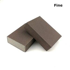 Image 5 - 20 sztuk szlifowanie blok z gąbki ścierna piankowa podkładka na ściana z drewna sprzątanie kuchni szlifowanie ręczne