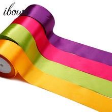 IBOWS 25yards 2 50mm Solid Satin Ribbons Wedding Christmas Decorative Gift Box Wrapping DIY Bow Crafts Apparel Sewing Fabric striped tape fabric ribbon diy craft bow tie material apparel sewing gift wrapping christmas wedding party ribbons 10 meters