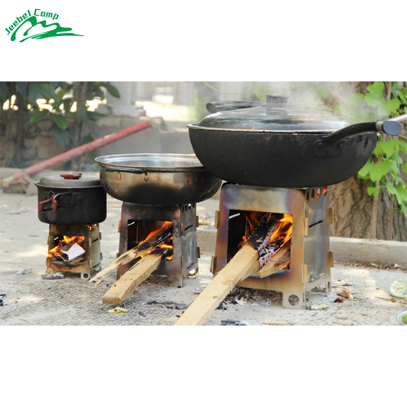 Jeebel Foldable Wood Stove High Quality Outdoor Cooking Camping Folding Pocket Alcohol Coolout Stainless Steel Stove Picnic BBQ image