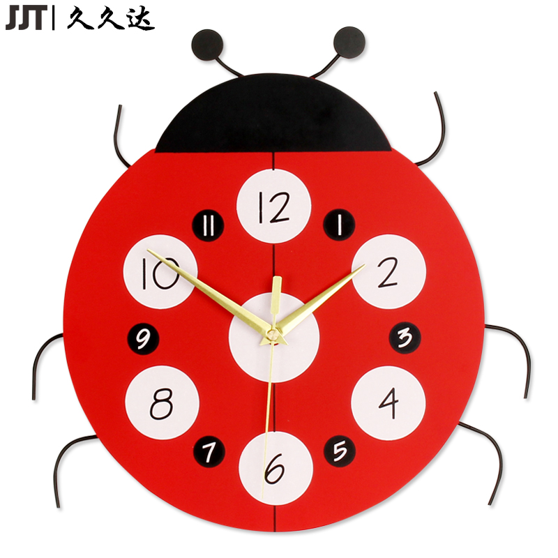 MDF en bois belle horloge murale en forme De coléoptère pour chambre d'enfants 3D belle Relogio De Parede
