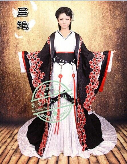 2014 New Design Drama Costume Black Elegant Costume TV Play Beauties of the Emperor  Hanfu Costume Famous Empress Lvzhi