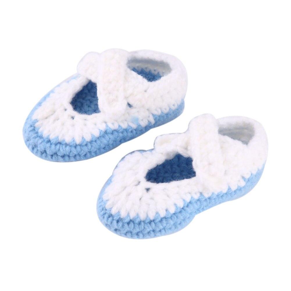 Suave ganchillo knit del niño Zapatos para bebé recién nacido Niños ...