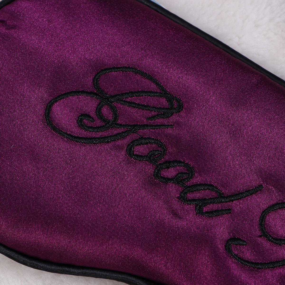 Silk Sleep Eye Mask Embroidery Eyeshade Large Blindfold Night Blinder for Men Women and Kids 5
