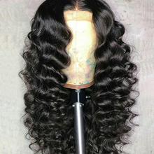 Curly Wig Brazilian Lace Front Human Hair Wigs For Black Women With Pre Plucked Bleached Knots Lace Front Wig Remy Hair Full End(China)