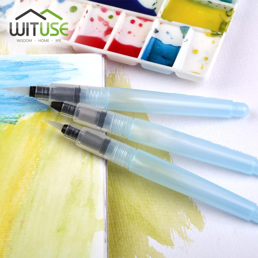 זול 3 צבעי מים צבע קליגרפיה עט סאקורה מעולה פיילוט צבע מברשת Lms סאקורה פנל מים Waterbrush טנק