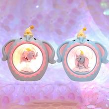 LED Night Light Elephant Moon Resin Cartoon Lamp Luminaria Romantic Bedroom Decor Baby Kids Birthday Xmas Gift