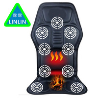 LINLIN Car Home Office Full Body Back Neck Lumbar Electric Massage Chair Relaxation Pad Seat Heat