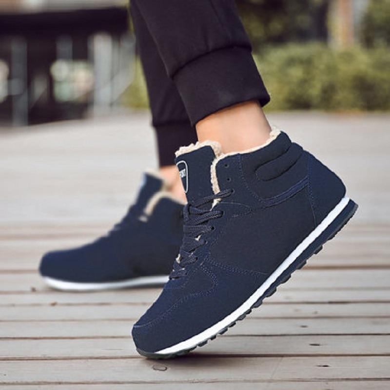 azul Zapatos Invierno De Entrenador Zapatillas Casuales Deporte Adulto Los 2019 Nieve Nuevos Hombre Moda Hombres Negro qAYzwZtnO