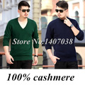 2016 winter and autumn men sweater V-neck cashmere sweater high quality wool pullover knitted basic shirt pullover big sweater