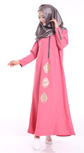 Fashion Muslim girl long dress turkish women clothing  plus size dubai arab djellaba