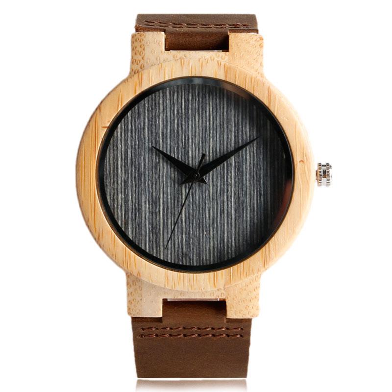 Fashion Cool Gray / Brown Dial Wood Watch meestele, kellel on ehtne - Meeste käekellad - Foto 1