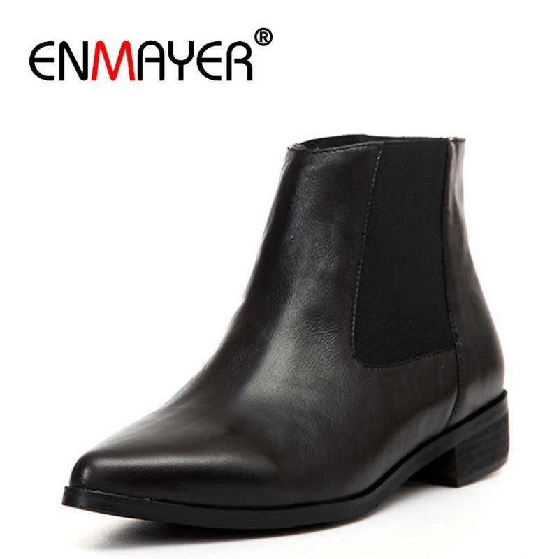 3180ed274 Chaussures En Nouvelle Bottines Pointu Enmayer Cr598 Black Profonde ...