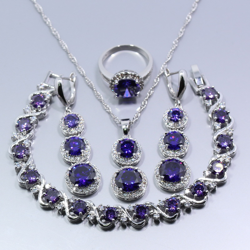 Fetching 925 Sterling Silver Women Four Piece Jewelry Set