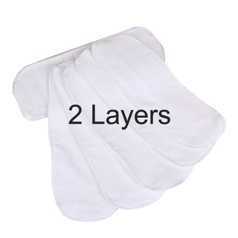10 pieces Cloth Newborn Baby 2 Layers Disposable Diapers For Children Nano Microfiber Reusable Nappies Washable Inserts V20