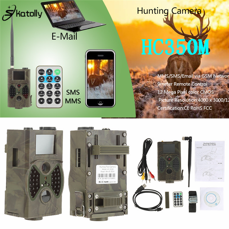 Skatolly HC350M Hunting Trail Camera 2G HD 16MP 1080P Video MMS GMS Night Vision Scouting Infrared Trap Wildlife Game Hunter Cam 12mp trail camera gsm mms gprs sms scouting infrared wildlife hunting camera hd digital infrared hunting camera