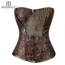Sexy Steampunk Corset for Women Plus Size Overbust Shaper Cincher Bustiers Waist Trainer Corselet