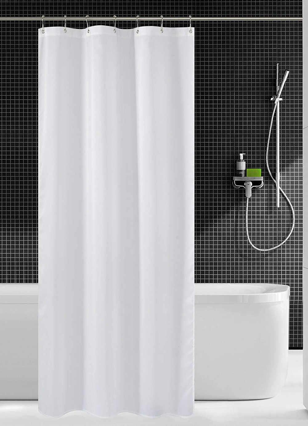 Fabric Shower Curtain Mildew Resistant Washable Water Repellent Spa Bath Home Bathroom Curtains Dropshipping
