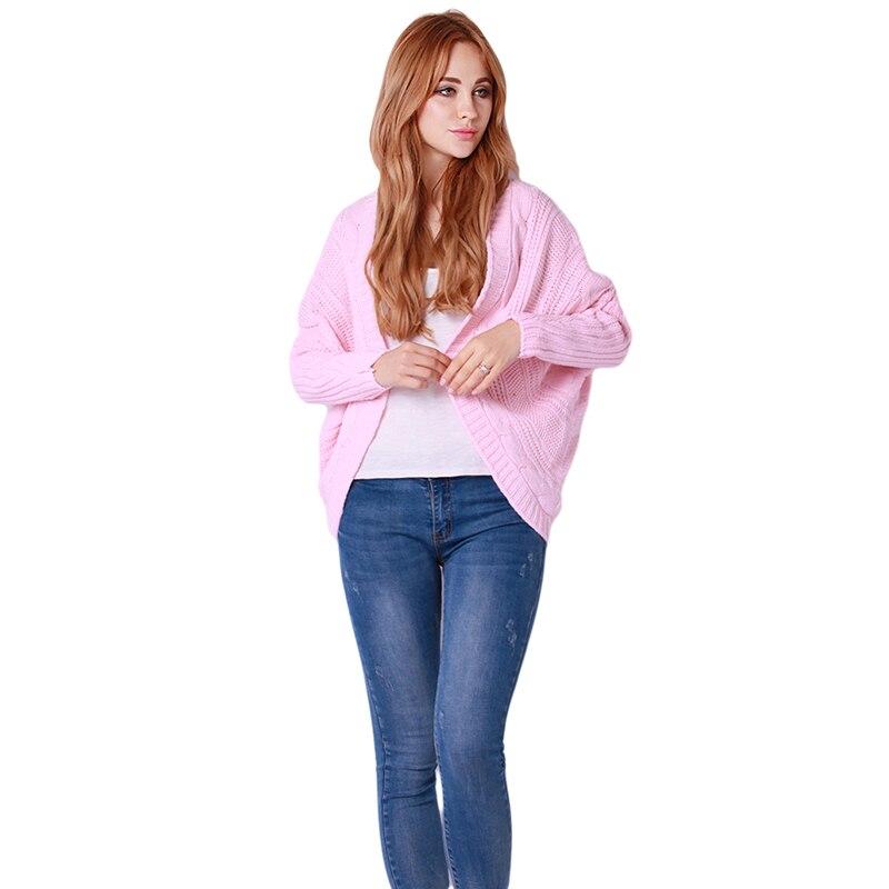 Fashion 1pc/lot New Lady/Women Korea Loose Warm Sweater Coat Knitted Wool Yarn Cardigan Batwing Outwear 5 Colours IU650731
