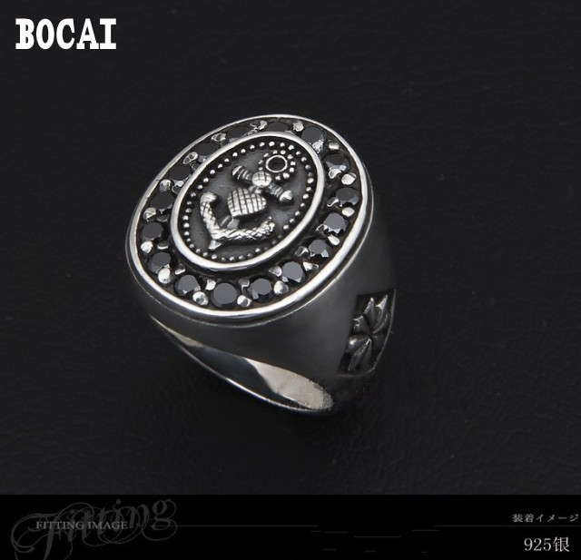 925 Silver Vintage Fashion Cross Flower Thai Silver Ring 925 pure silver ring spirally wound flower rose thai silver ring vintage ring flower ring