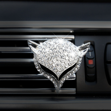 1pc Universal Car Air Outlet Freshener Diamond fox Crystal Perfume Clip Conditioning Aromatherapy Accessories Decoration