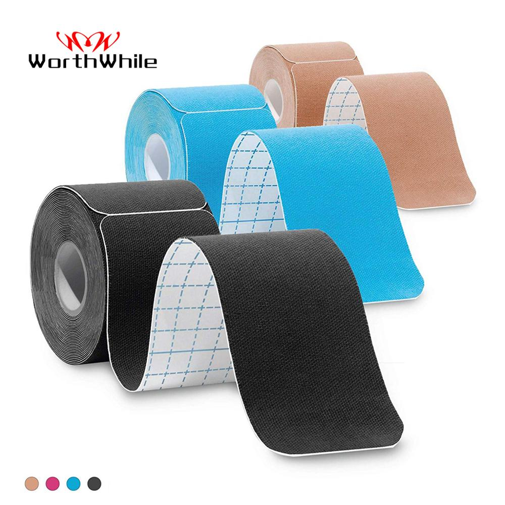 WorthWhile 5cm*5m Pre Cut Kinesiology Tape Athletic Recovery Elastic Tape Muscle Pain Relief Kneepads Fitness Sports Protector(China)