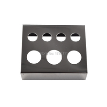 7 Holes Pigment Container Stand Tattoo Accessories Supplies Stainless Steel Tattoo Permanent Makeup Ink Cup Holder