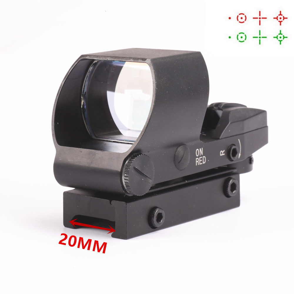 Tactical AK Holographic 1X33 Green Red Dot Sight Laser Scope Illuminated Optics Reflex Red Dot Sight Riflescope With 20mm Rail el 1400 holographic red dot sight reflex sight 21mm rail mirino laser per carabina hunting optica scope