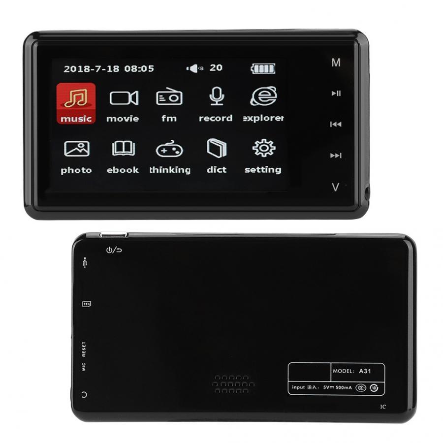Portable numérique HD vidéo lecteur MP3 3.0 pouces écran HiFi lecteur de musique sans perte FM Radio e-books plein format musique décodage puce