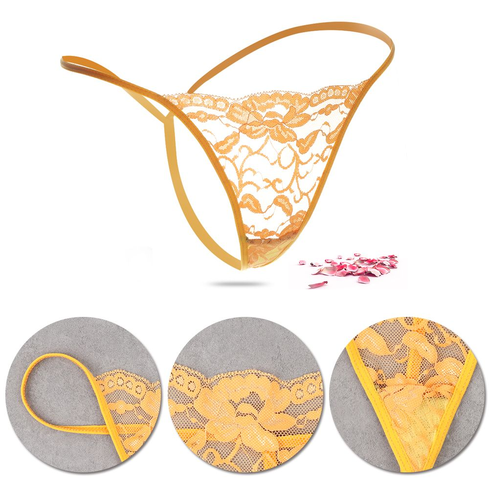 1PC Random Color Panties Women Sexy Briefs G-String Thong Low Waist Panties Sexy Lace Transparent T-back Lingerie Underwear