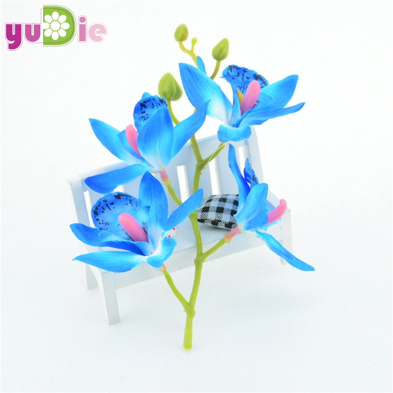 20 bunches silk orchid artificial flowers Lily bouquet wedding decoration diy wreath Scrapbooking Fake flowers para decoration