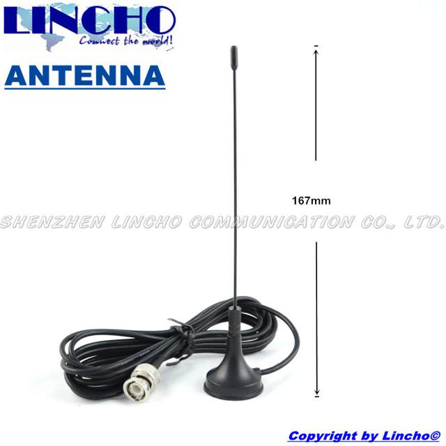 Uhf jamón omnidireccional antena, pequeño walkie talkie antena de base magnética, bnc macho antena