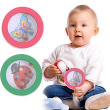 Fa kerek labda labirintus játék puzzle fa gyerekek kéz-szimulációs játék oktatási játék Ideális ajándék gyerekeknek véletlen színű