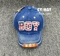 Novo menino carta das crianças dos miúdos Hiphop Snapback de beisebol ajustável Caps chapéus para meninos e meninas crianças unissex gorras