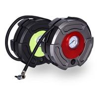 Portable Car Auto Air Compressor Tyre Inflator Pump Pressure Meter 2in1 12V Cigarette Lighter Plug 3