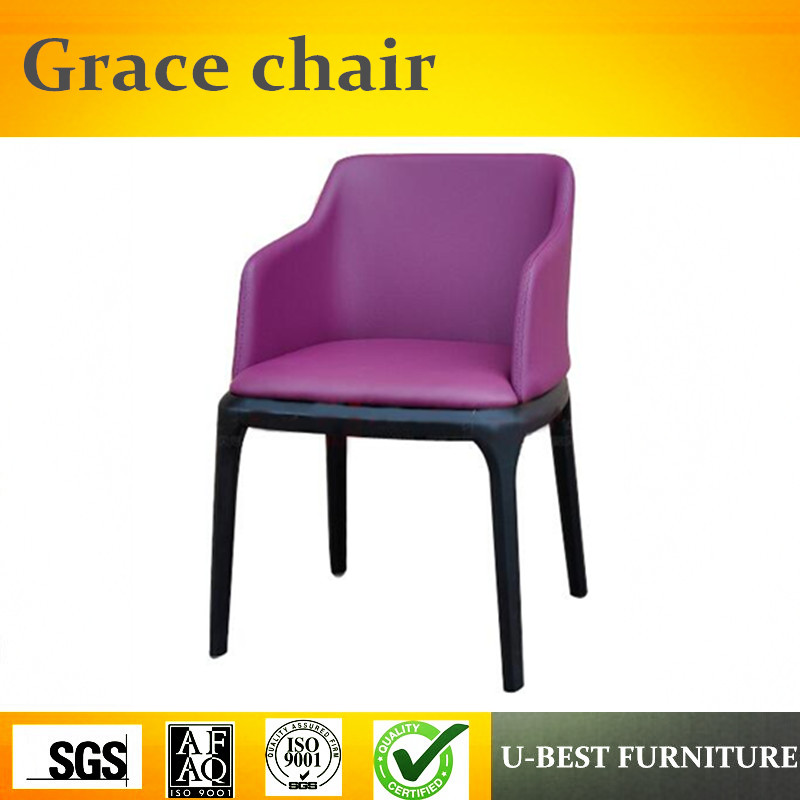 Free shipping U-BEST Wood Upholstery Restaurant Dining Chair Grace Arm Chair,Replica designer furniture цена 2017