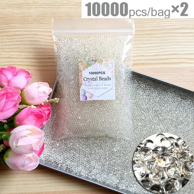 20000pcs/bag Crystal Soil Hydrogel Gel Polymer Water Beads Orbiz Flower/Wedding/Decoration Growing Water Balls Big Home Decor 2