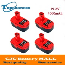 4X High Quality 19.2V 4000mAh Li-Ion Power Tool Battery For Craftsman C3 11374 11375 130285003 CRS1000 10126 11569 11585