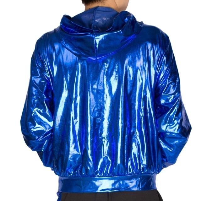 2017 Spring Autumn Men Blue bomber Jacket Stage Performance Wear paillette male casaco Hip Hop dance coat 3