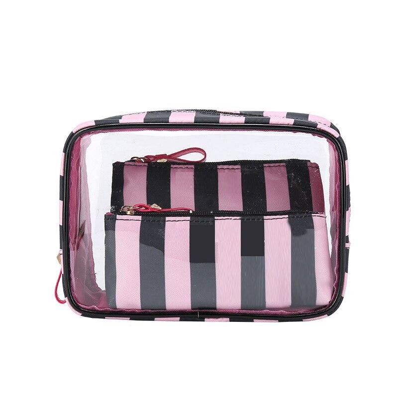 PVC Transparent Cosmetic Bag Travel Toiletry Bag Set Make-up Organizer Pouch Makeup Case Beautician Vanity Necessaire Trip