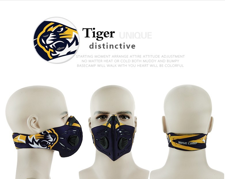 Free Size Air Filter Sport Face Mask Training Bicycle Cycling Half Face Mask Bike Running Jogging Facemask Anti Pollution Mask