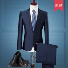 The new 2017 men's suits business and leisure travelers Cultivate one's morality suit the groom wedding dress of England