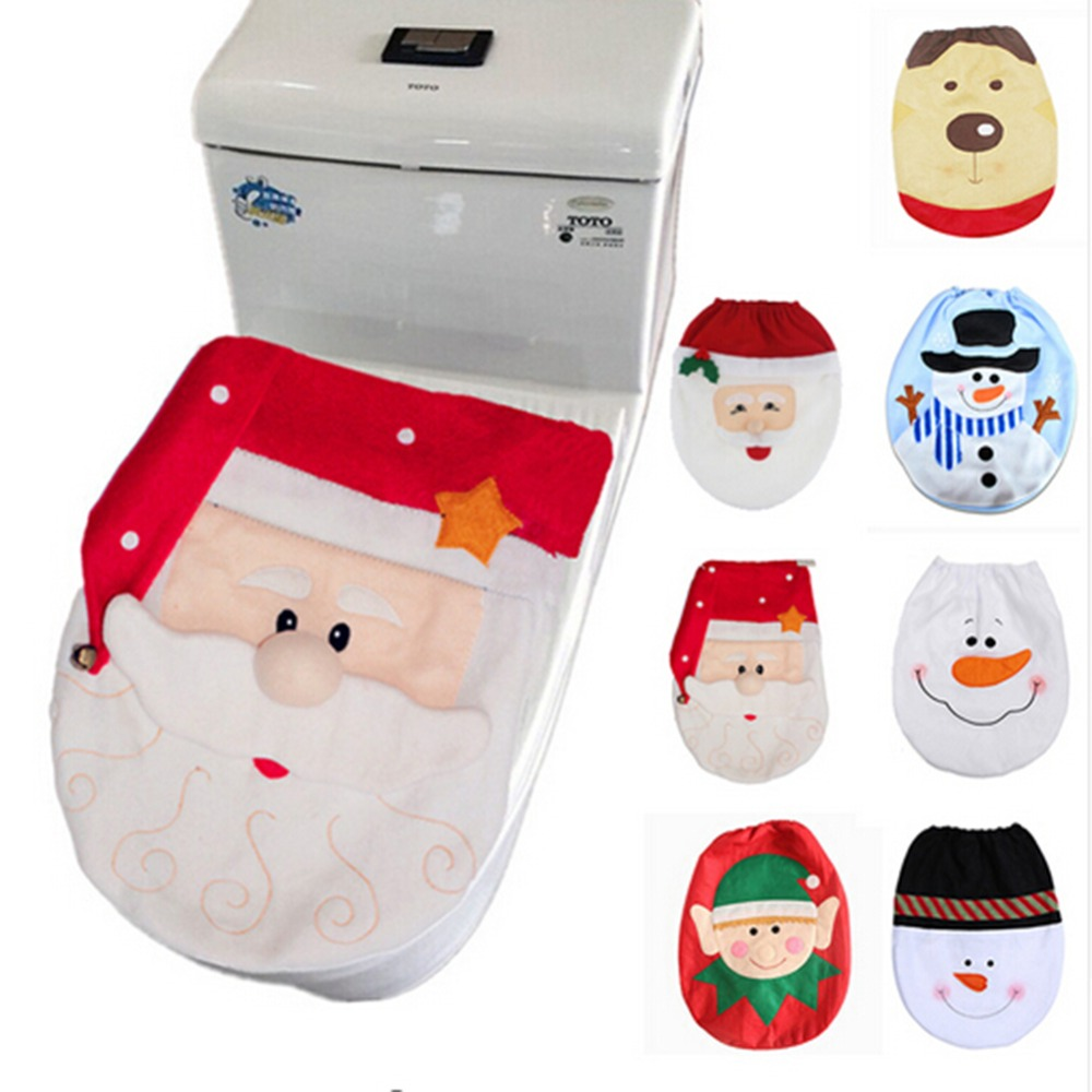 Christmas Decorations for Home Santa Claus Toilet Lid Cover New Year Decor Xmas Christmas Ornament Navidad 2019Gifts Accessories