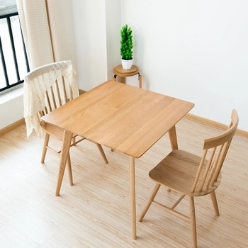 Mesa de comedor de madera maciza mesa cuadrada de roble blanco ...