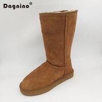DAGNINO Women Men Original Fashion High Quality Brand Genuine Leather Australia Classic Warm Winter Snow Boots