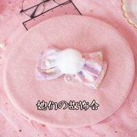 Księżniczka słodki lolita berety Fioletowy Jednorożec Japoński ręcznie duży łuk włosy piłka cute girl Beret niezbędny Uliczne GSH118