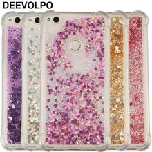 DEEVOLPO Case For Huawei P10Lite P9 P8 Lite 2017 Silicone Transparent Soft Clear Love Liquid Anti-knock Cases Cover DP03F