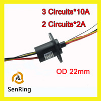 Capsule Slip Ring 10A Each 3 Circuits Wires And 2 Circuits Signal With OD 22mm