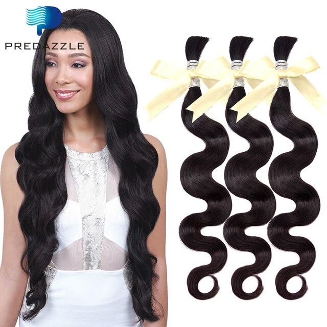 9a Top Human Braid Hair Bulk No Weft Unprocessed 3 Bundles Brazilian Virgin Body Wave
