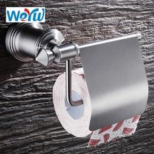 WEYUU Free Shipping Bathroom Accessories Toilet Paper Holder 304Stainless Steel Paper Rack Single Roll Brushed Nickel стоимость